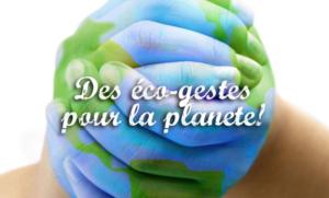 eco geste pour la planete
