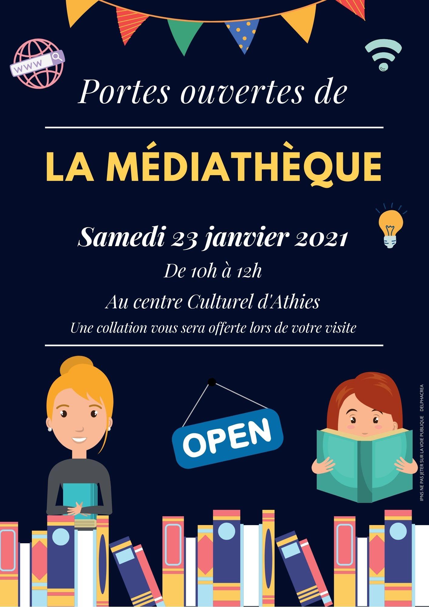 Portes ouvertes de votre médiathèque Samedi 23 janvier entre 10h et 12h