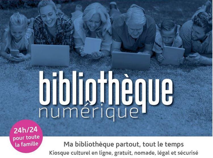 La médiathèque communale se modernise et passe au numérique: Venez découvrir la bibliothèque numérique le 4 Septembre prochain de 10H à 12H